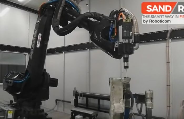 Robotic cutting and trimming on aerospace parts with sandrob